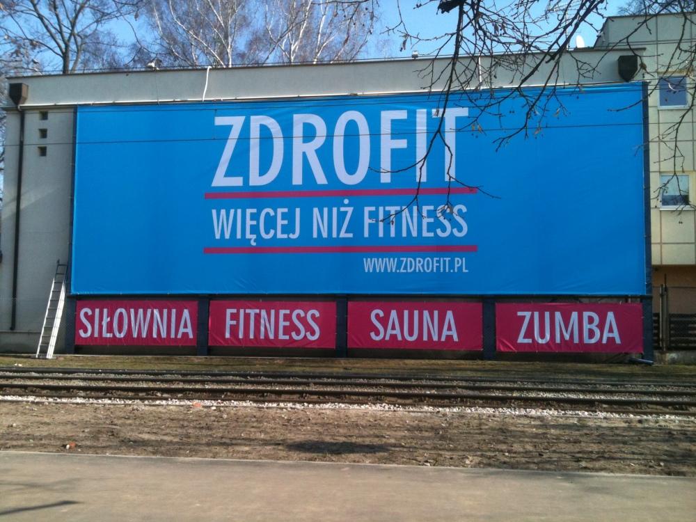 Zdrofit banner reklamowy